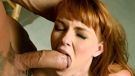 Redhead Marie Mccray Works a Cock